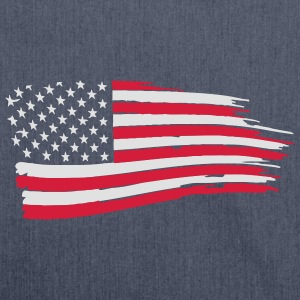 usa_flag_on_blue T-Shirts - Shoulder Bag made from recycled material
