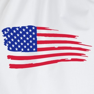 usa_flag_on_white T-Shirts - Drawstring Bag