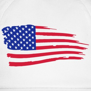 usa_flag_on_white T-Shirts - Baseball Cap