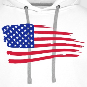 usa_flag_on_white T-Shirts - Men's Premium Hoodie
