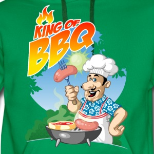 King of barbecue - Sweat-shirt à capuche Premium pour hommes