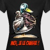 CANARD COLVERT Moi Je Le Chasse ! Tee shirts - T-shirt Femme