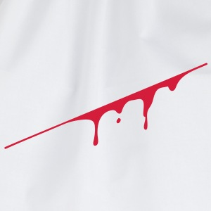 blood splatter T-shirt - Sacca sportiva