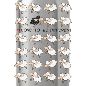 I love to be different T-shirts - Drinkfles