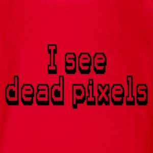Rot i see dead pixels Kinder T-Shirts - Baby Bio-Kurzarm-Body