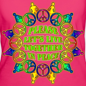 Living in Peace - Frauen Bio-T-Shirt