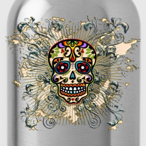 Mexican Sugar Skull - Day of the Dead T-Shirts - Water Bottle