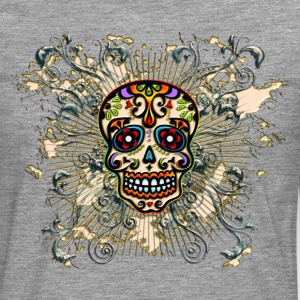 Mexican Sugar Skull - Day of the Dead T-Shirts - Men's Premium Longsleeve Shirt