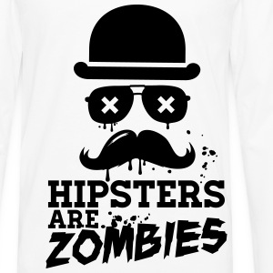 All hipsters are zombies zombie hipster undead  Shirts - Men's Premium Longsleeve Shirt