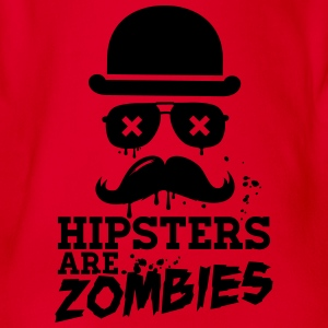 All hipsters are zombies zombie hipster undead  Shirts - Organic Short-sleeved Baby Bodysuit