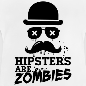 All hipsters are zombies zombie hipster undead  Tee shirts - T-shirt Bébé
