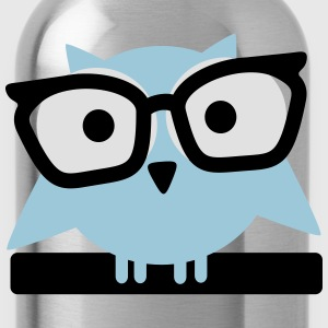 owl with glasses T-shirts - Drinkfles