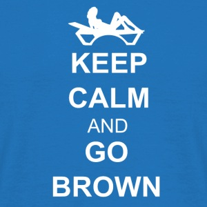 Keep calm and go brown Sacs et sacs à dos - T-shirt Homme