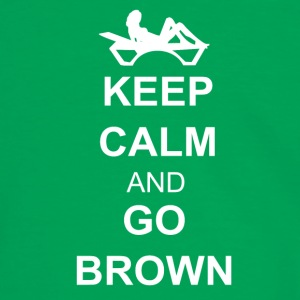 Keep calm and go brown Vesker og ryggsekker - Kontrast-T-skjorte for menn