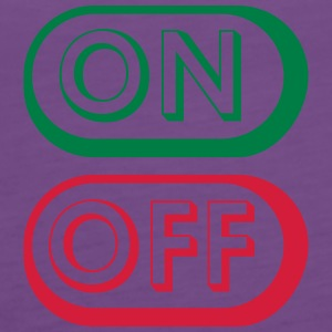 On Off Buttons T-shirts - Premiumtanktopp dam