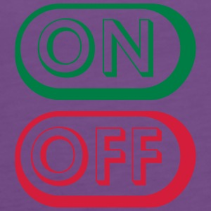 On Off Buttons T-skjorter - Premium singlet for kvinner