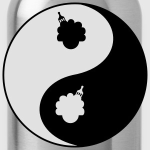 Afro Ying And Yang T-Shirts - Water Bottle