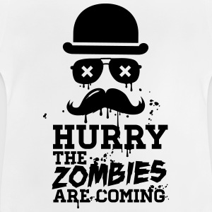 Hurry the zombies are coming zombie undead Shirts - Baby T-Shirt