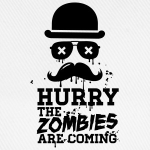 Hurry the zombies are coming zombie undead Hoodies & Sweatshirts - Baseball Cap