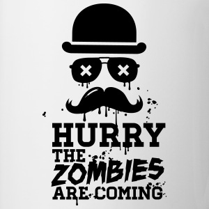 Hurry the zombies are coming zombie halloween Sweat-shirts - Tasse