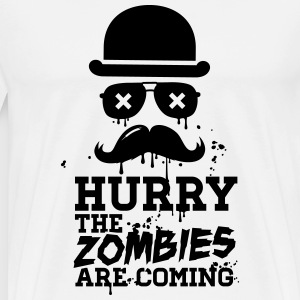Hurry the zombies are coming zombie halloween Sweat-shirts - T-shirt Premium Homme