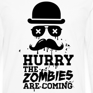 Hurry the zombies are coming zombie halloween Sweat-shirts - T-shirt manches longues Premium Homme