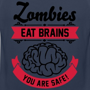 Zombies eat Brains you are safe! T-shirts - Premiumtanktopp herr