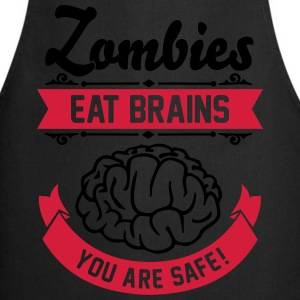 Zombies eat Brains you are safe! T-shirts - Keukenschort