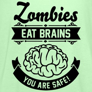 Zombies eat Brains you are safe! T-shirts - Tanktopp dam från Bella