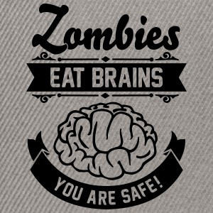 Zombies eat Brains you are safe! T-Shirts - Snapback Cap
