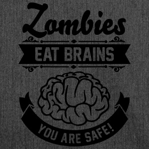 Zombies eat Brains you are safe! Tee shirts - Sac bandoulière 100 % recyclé