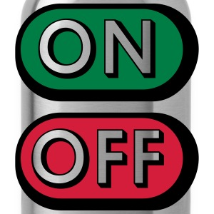 On Off Buttons T-Shirts - Water Bottle