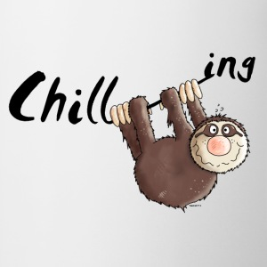 Chillen - Faultier - Faulenzen - Cartoon T-Shirts - Tasse