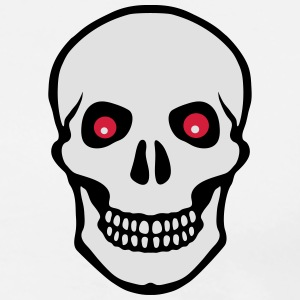 Skull red eyes - Men's Premium T-Shirt