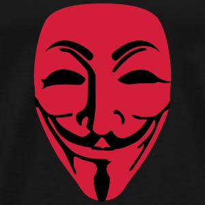 Mask Guy Fawkes anonymous - Men's Premium T-Shirt