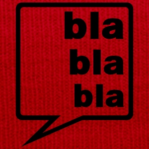 blah blah blah speech bubble  T-Shirts - Winter Hat