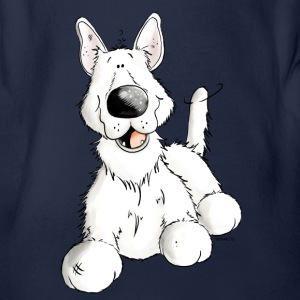 White German Shepherd Dog - Breed - Dogs Shirts - Organic Short-sleeved Baby Bodysuit