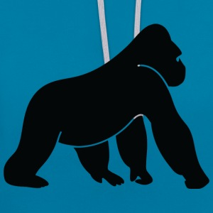 Gorilla (dd)++2013 T-Shirts - Contrast Colour Hoodie