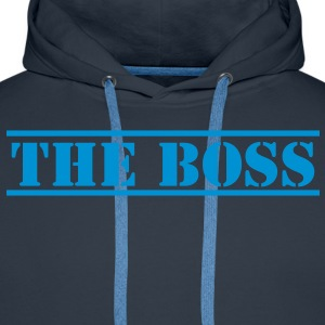 THE BOSS in stencil T-Shirts - Men's Premium Hoodie