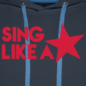 SING like a STAR! celebrity cute singer design T-Shirts - Men's Premium Hoodie