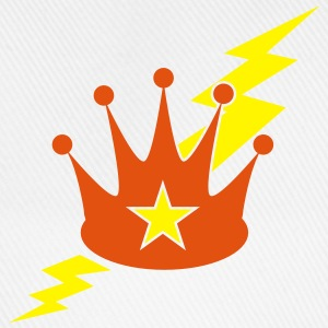 crown with a lightning bolt Phone & Tablet Cases - Baseball Cap