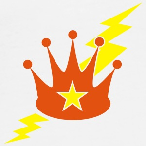 crown with a lightning bolt Phone & Tablet Cases - Men's Premium T-Shirt