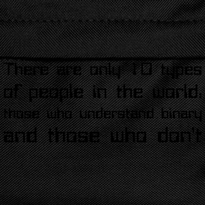 There are only 10 types of people in the world... - Zaino per bambini