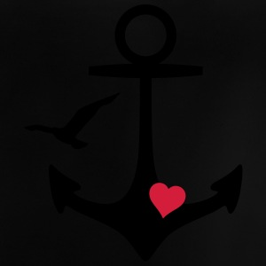 anchor heart and gull anker hjerte og måge T-shirts - Baby T-shirt