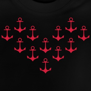 anchor pattern heart anker patroon hart Shirts - Baby T-shirt