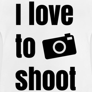 i love to shoot photos j'aime tirer des photos Tee shirts - T-shirt Bébé