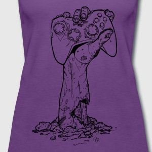 Xbox Zombie Gamer only BLACK Tee shirts - Women's Premium Tank Top