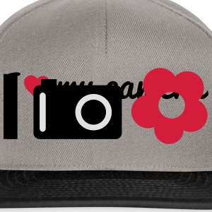 i love to shoot photos of flowers mi piace scattare foto di fiori Borse & zaini - Snapback Cap