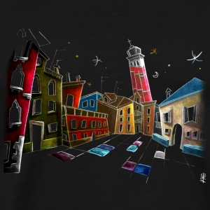 Bag Design - Venice Illustration - Men's Premium T-Shirt
