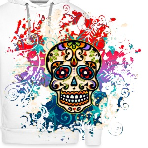 Mexican Sugar Skull - Day of the Dead T-Shirts - Men's Premium Hoodie